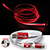3 in 1 El Lighted Charging Cable red 27477