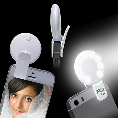 round selfie light