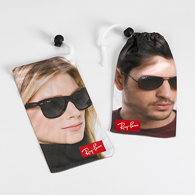 dye sublimation microfiber pouch/sunglass case