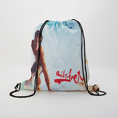 Hand out this on-trend promotional Drawstring Backpack to your target  audience 00ddeec60b730