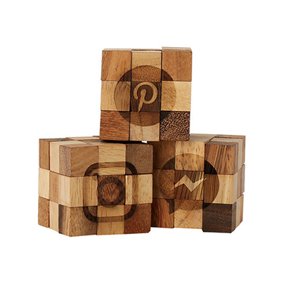 single small wooden puzzle