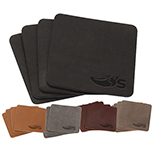 27546 - Set of 4 Leather Coasters