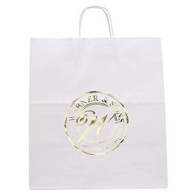 white knight bag with twisted handle