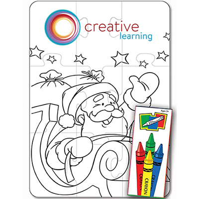 Santa 9 Piece Coloring Puzzle Set