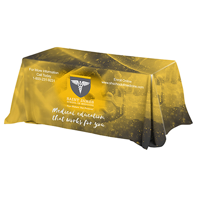 6 ft 4-sided throw style table cover
