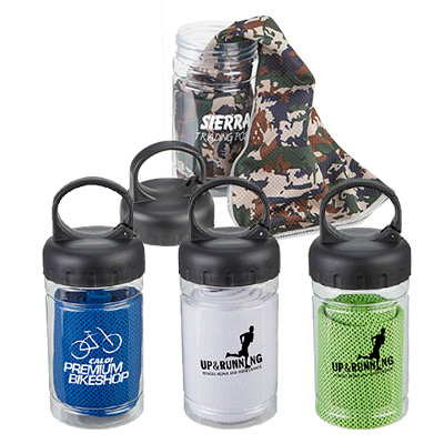 chill-out cooling towel & bottle
