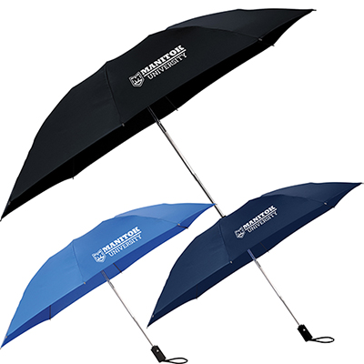 46 3-section, folding inversion umbrella