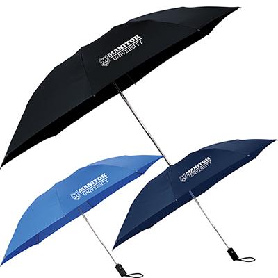 46 3-section, folding inversion umbrella