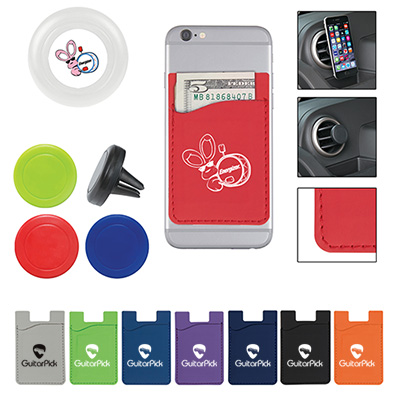 magnetic auto air vent phone wallet