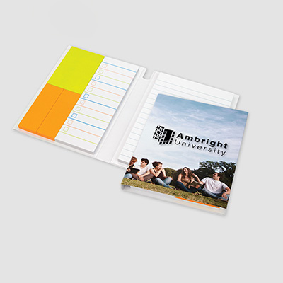 essential journal featuring post-it® notes and flags
