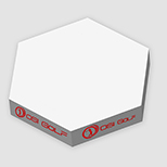 "27951 - 3 3/4"" x 3 3/4"" x 1 3/4"" Hexagon Post-it® Notes Slim Cube"