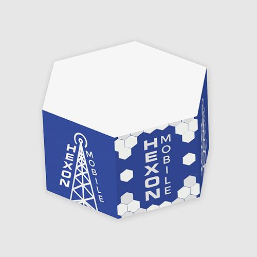 3 1/4 x 3 1/4 x 1 3/4 hexagon post-it® notes half cube