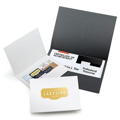 standard horizontal pocket folder