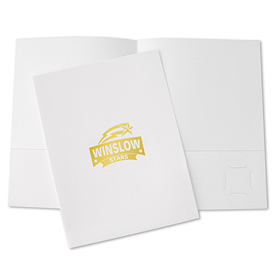 9 x 12 foil stamped budget pocket folder