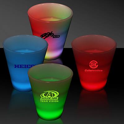 multi color led shot glass