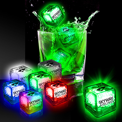 liquid activated light up ice cubes
