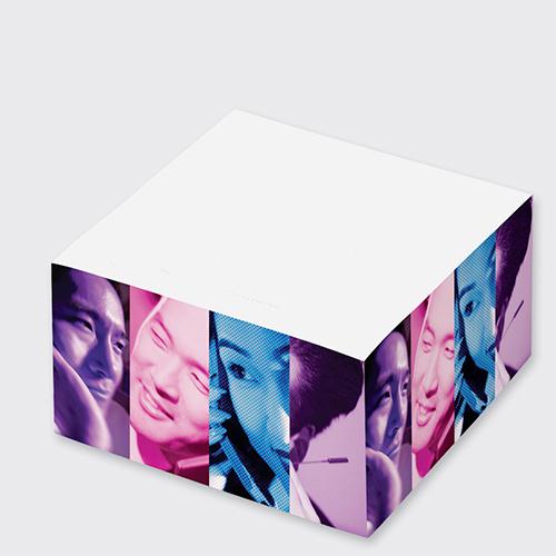 2 3/4 x 2 3/4 x 1 3/8 post-it® notes cube (345 sheets) (full color imprint)
