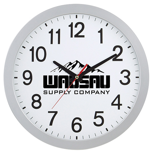 12 slim wall clock