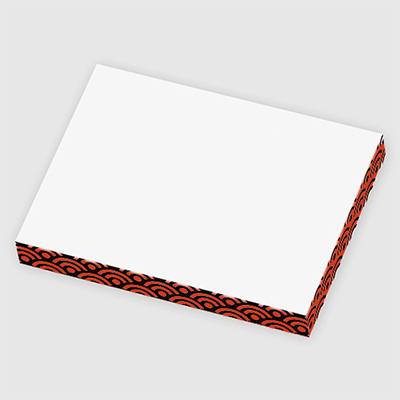 3 x 4 x 1/2 post-it® rectangle notes cube - 100 sheets (two colors)
