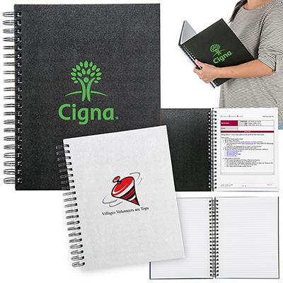 titanium large spiral notebook