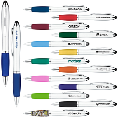 curvaceous ballpoint stylus