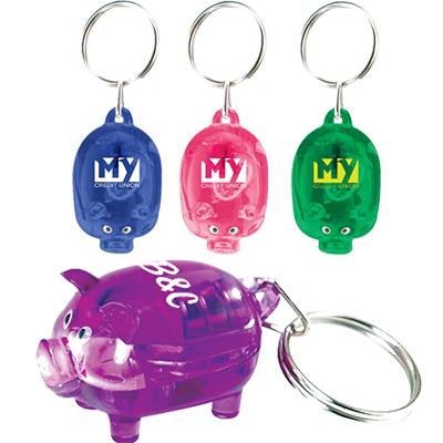 light up piggy keytag