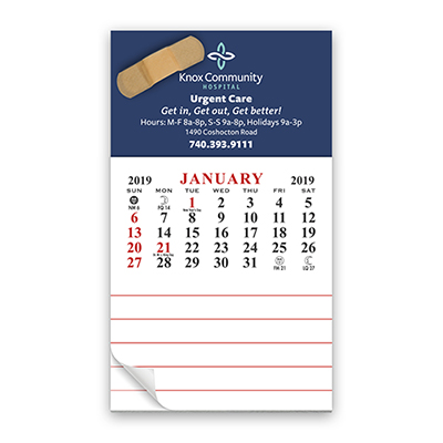 add-a-pad magnetic 12 month calendar
