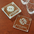 Economy Glass Coaster Set CLear 28731
