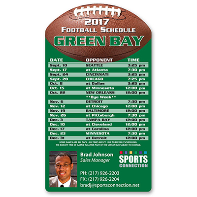 sports schedule magnet