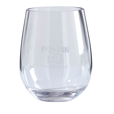 tritan stemless wine glass 2 piece set