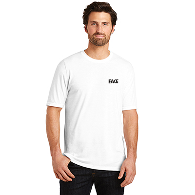 district made® mens perfect tri® crew tee (white)