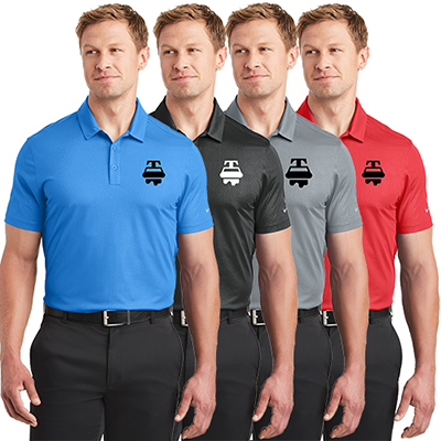 aef8c50491b6 Make your employees feel appreciated with this custom promotional Nike Dri-Fit  Tri-Blade Polo T Shirt