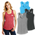 District Made Ladies Perfect Tri  Racerback Tank Gallery 28906