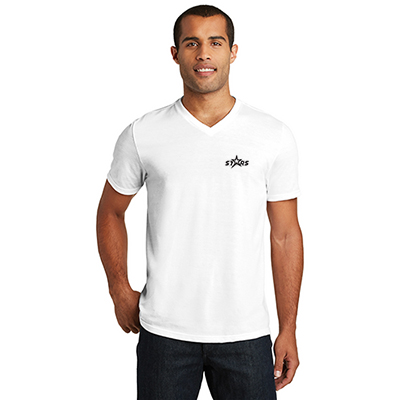 District Made® Mens Perfect Tri® V-Neck Tee (White)