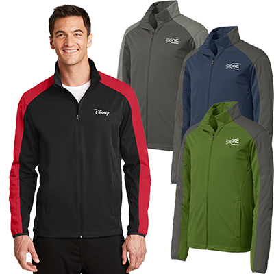port authority®active colorblock soft shell jacket