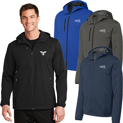 port authority®active hooded soft shell jacket