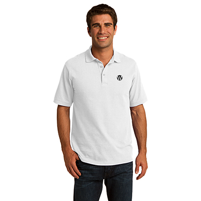port & company® core blend pique polo (white)