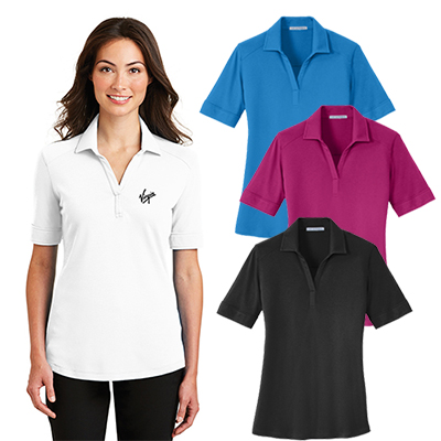 port authority® ladies silk touch™ interlock polo