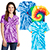 Ladies Tie Dye V Neck Tee gallery 28994