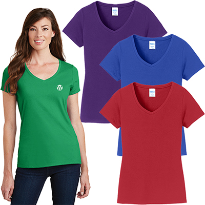port & company® ladies fan favorite™ v-neck tee