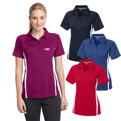 sport-tek® ladies posicharge® colorblock polo