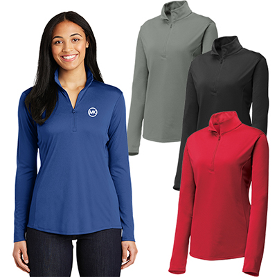 sport-tek®ladies posicharge®competitor™ 1/4-zip pullover