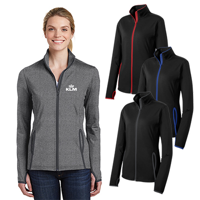 Imprinted Sport Tek Ladies Sport Wick Stretch Contrast Full Zip Jacket Imprinted Jacket Promo Direct Jackets, tanks, jerseys, shorts, wind shirts, and hoodies in small to 6xl sizes. sport tek