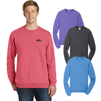 port & company®pigment-dyed crewneck sweatshirt
