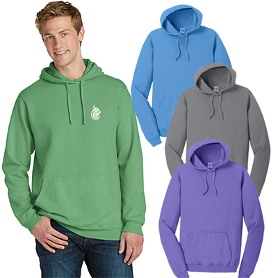 port & company®pigment-dyed pullover hooded sweatshirt
