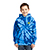 Youth Tie Dye Pullover Hooded Sweatshirt Royal 29044
