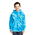 Youth Tie Dye Pullover Hooded Sweatshirt Turquoise 29044
