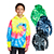 Youth Tie Dye Pullover Hooded Sweatshirt Gallery 29044