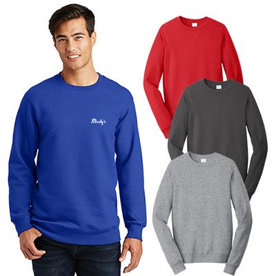 port & company®fan favorite™ fleece crewneck sweatshirt