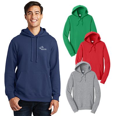 port & company®fan favorite™ fleece pullover hooded sweatshirt
